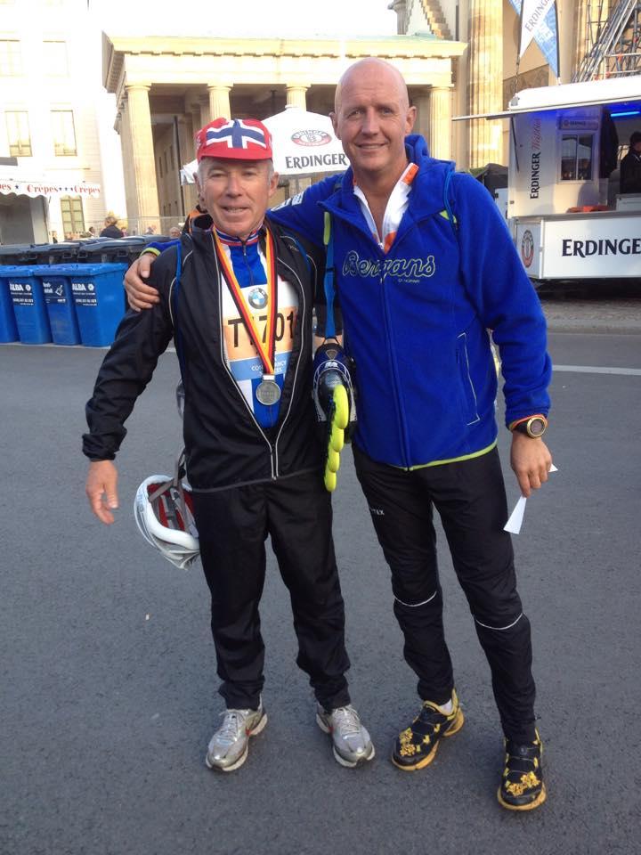 Arne og Knut Ole i BMW Berlin Marathon